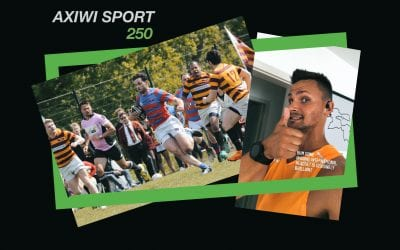 Rugby referee Jonathan Teppler using the AXIWI Sport 250 bluetooth headset while exercising