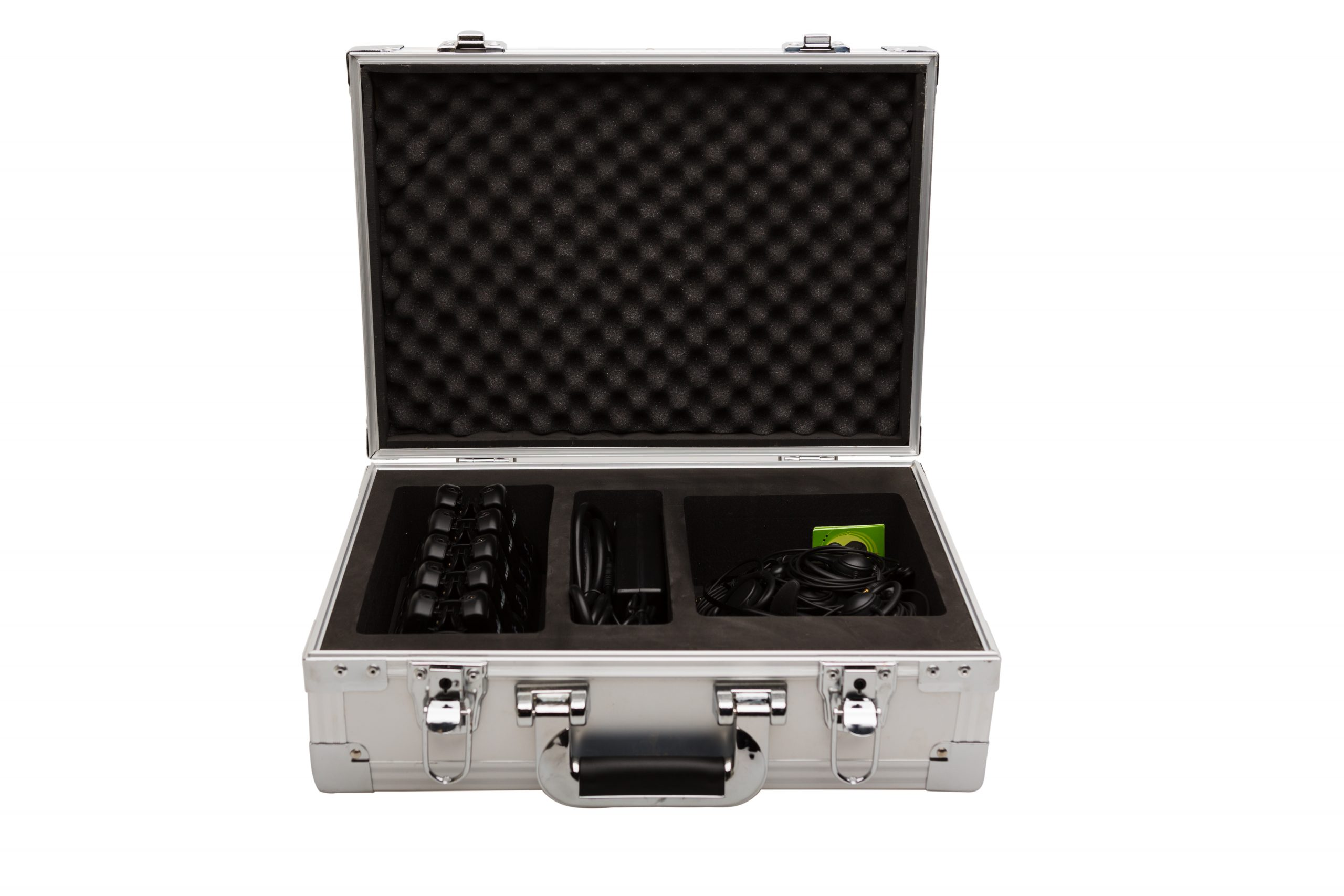 plant tour headsets for transport case