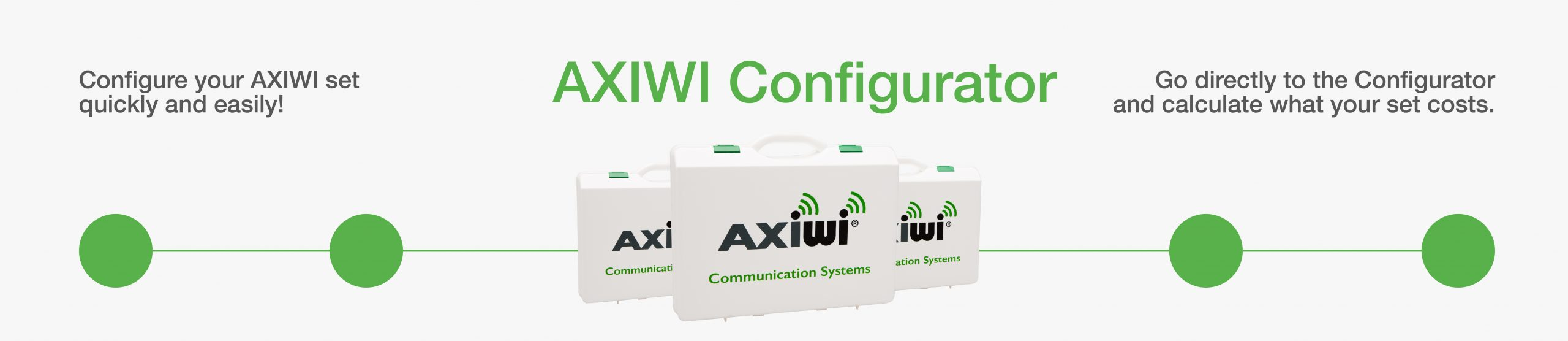 welcome at the axiwi configurator