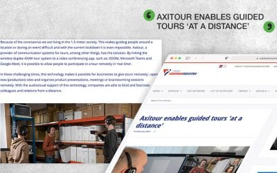 Vakblad VoedingsIndustrie: Axitour enables guided tours 'at a distance'