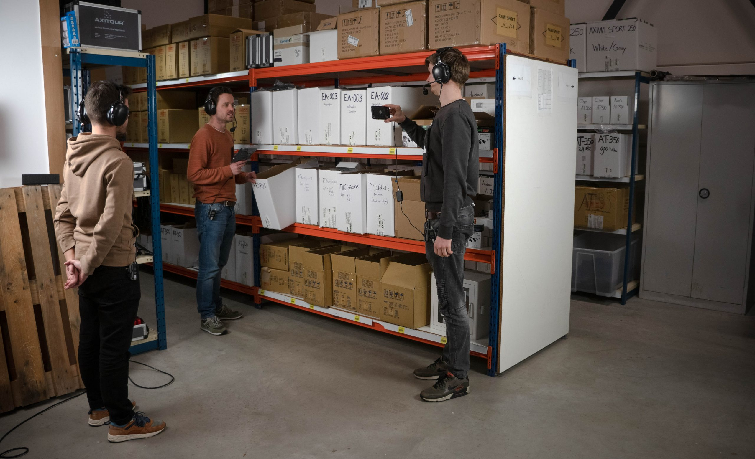 tour guiding remotely with video conferencing apps in a warehouse