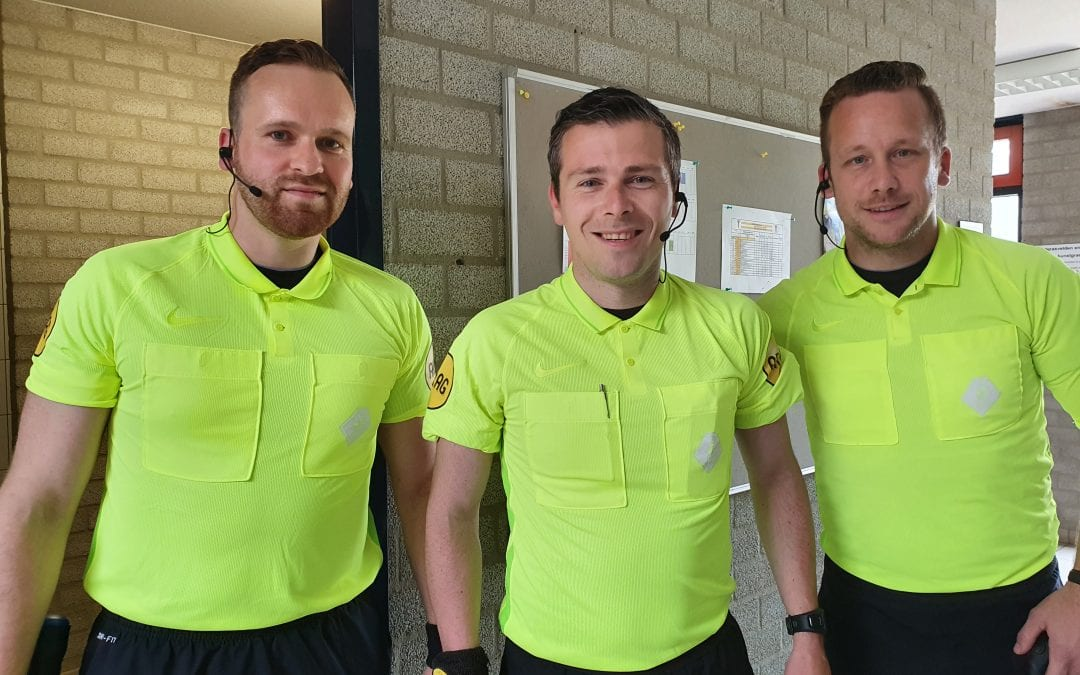 Soccer referees work with AXIWI during exhibition game KAA Gent vs RFC Seraing