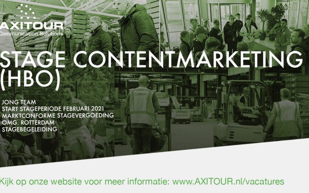 Vacature: Stage Content Marketing (HBO)